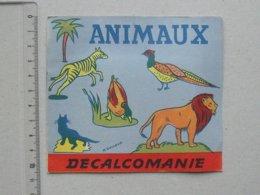 DECALCOMANIES Anciennes: ANIMAUX Livret Avec 3 Volets Intérieurs - Cheval Canard Crocodile RAINAUD - JESCO Imagerie - Vieux Papiers