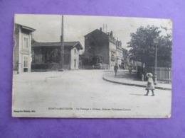 CPA 54 PONT A MOUSSON PASSAGE A NIVEAUAVENUE PRESIDENT CARNOT ANIMEE - Pont A Mousson