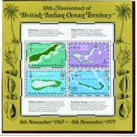 BRITISH INDIAN OCEAN TERRITORY  -  1975 Maps Miniature Sheet Unmounted/Never Hinged Mint - Territorio Británico Del Océano Índico