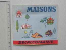 DECALCOMANIES Anciennes: MAISONS Du Monde Livret Avec 3 Volets Intérieurs - Igloo Japon Chine BEAUBERNARD JESCO Imagerie - Collezioni