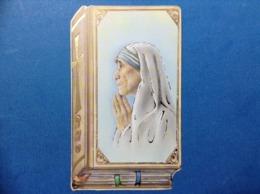 Santino Holy Card MADRE TERESA CALCUTTA EDIZ BIBLIA 32 - Santini