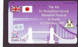 Télécarte Japon * ANGLETERRE * ENGLAND * TOWER BRIDGE * (417) GREAT BRITAIN RELATED * Phonecard Japan - Kultur
