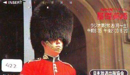 Télécarte Japon * ANGLETERRE * ENGLAND * LONDON * (422) GREAT BRITAIN RELATED * Phonecard Japan - Cultura
