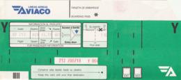 BOARDING PASS - AVIACO LINEAS AREAS - 1990 - MHON BARCELONA - Tiquetes Aéreos