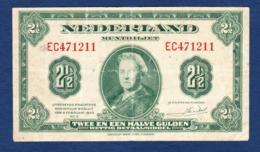 BANKNOTES-1943-NETHERLANDS-2 1/2 GULDEN-SEE-SCAN-CIRCULATED - [2] 1815-… : Koninkrijk Der Verenigde Nederlanden