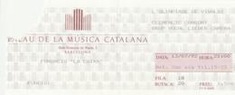 """TICKET - ENTRADA / PALAU MUSICA CATALANA 1992 - FUNDACIO """"LA CAIXA"""" - Tickets - Entradas"""
