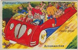 14  Arromanches Carte A Systeme Avec Depliant 10 Vues   Charmant Voyage - Arromanches