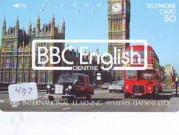 Télécarte Japon * ANGLETERRE * ENGLAND * LONDON Big Ben * (432) GREAT BRITAIN RELATED * Phonecard Japan - Cultura