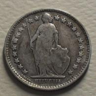 1904 - Suisse - Switzerland - 1/2 FRANC (B), Argent, Silver, KM 23 - Suisse