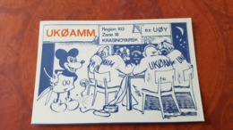 CPM - Mickey Mouse -  Disney - Old QSL Postcard - Disney