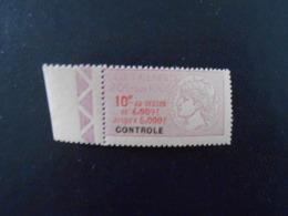 FRANCE  YT 14 TIMBRE FISCAL TAXE SUR LES PAIEMENTS 10f Lilas BORD DE FEUILLE** - Revenue Stamps