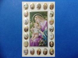 Santino Holy Card VERGINE MARIA EDIZ NB ROSARY 4 - Santini