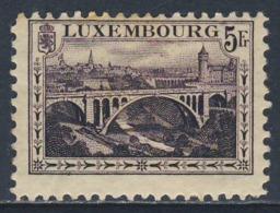 Luxemburg Luxembourg 1921 Mi 136A YT 134 * MH - Adolphe-Brücke über Dem Petruss-Tal / Pont Adolphe, Luxembourg - Bruggen