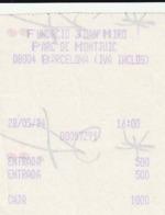 TICKET - ENTRADA / FUNDACIO JOAN MIRO - 1994 - Tickets - Entradas