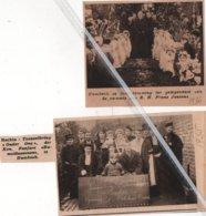 "HUMBEEK..1935..1936..TONEELKRING ""ONDER ONS DER KONINKLIJKE FANFARE ""RUPELMONDUSZONEN "" EREMIS E.H. FRANS JANSENS - Vieux Papiers"