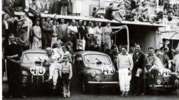 Equipe Renault 4CV  -   (Concurrents Francaises Du Mans 1950)  -  15x10cms  PHOTO - Le Mans