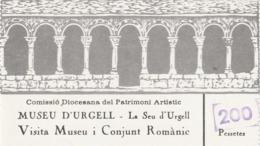 TICKET - ENTRADA / MUSEU D'URGELL - LA SEU D'URGELL  1988 - Tickets - Entradas