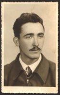 Handsome Moustache Man Guy Portrait GAY INT Old Photo 9x14 Cm #26653 - Anonymous Persons