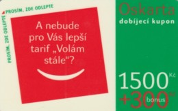 PREPAID PHONE CARD REPUBBLICA CECA  (PK2215 - Tsjechië