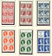 AUSTRALIA  -  1955-63 Page Of Booklet Panes Unmounted/Never Hinged Mint - 1952-65 Elizabeth II : Pre-Decimals