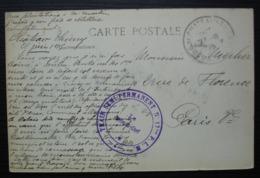 1915 Train  Semi-permanent N° 17 Bis P.L.M  Cad De Château Thierry - Marcophilie (Lettres)