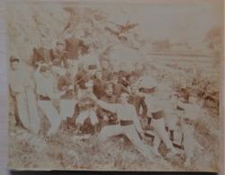 Militaria - Photo Collée Sur Carton - Soldats - ESCRIME - Regiment 112 - Format: 20/16cm. - Guerra 1914-18