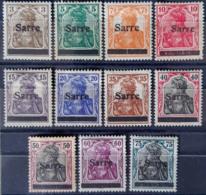 SARRE / SAARGEBIET 1920 - MLH - Mi 3, 4, 5, 6, 7, 8, 11, 12, 13, 14, 15 - Unused Stamps