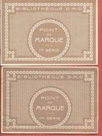 BIBLIO DMC -2 ALBUMS DIFFERENTS- POINT DE MARQUE 1e Série Fev30/Nov32  POINT DE CROIX -Nombreux ALPHABETS,MONOGRAMMES - Stickarbeiten