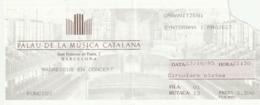 TICKET - ENTRADA /  PALAU MUSICA CATALANA - MADREDEUS EN CONCERT 1995 - Tickets - Entradas