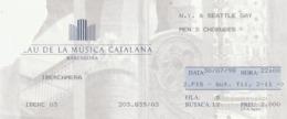 TICKET - ENTRADA /  PALAU MUSICA CATALANA - IBERCAMERA 1998 - Tickets - Entradas
