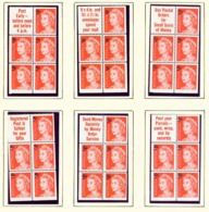 AUSTRALIA  -  1967 Page Of Decimal Definitive Booklet Panes Unmounted/Never Hinged Mint - 1952-65 Elizabeth II : Pre-Decimals