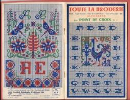 TOUTE LA BRODERIE HORS SERIE - 1956- POINT DE CROIX N° 3 -  Nombreux ALPHABETS,MONOGRAMMES MOTIFS, ANIMAUX - Stickarbeiten