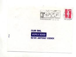 Lettre  Flamme Ramonchamp 4 Saisons Ski Cheval Champignon Peche - Poststempel (Briefe)