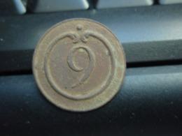 Bouton Plat Empire N° 9, Culot Lanterne. - Buttons