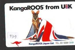 Télécarte Japon  * ANGLETERRE * ENGLAND *  (439) GREAT BRITAIN RELATED * Phonecard Japan - Cultura
