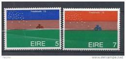Irlande 1973 N°296/297 Neufs ** Championnat De Labourage - Neufs