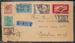 HALF COVER  POR AVIAO  TO BERLIN - Lettres & Documents