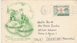 LETTERA 1955 CANADA TIMBRO NIAGARA ON THE LAKE - BOY SCOUTS (VX106 - 1952-.... Regno Di Elizabeth II