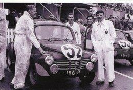 Renault 4CV 1063  - Pilotes: Jean Saint-Paul Moser (Concurrents Francaises Du Mans 1951) - PHOTO 15x10cms - Le Mans