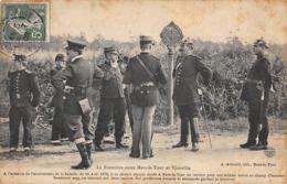 Thème:    Métier.  Douanier. Frontière Entre Mars La Tour Et Vionville  Gendarmes Français Et Allemands      (Voir Scan) - Police - Gendarmerie
