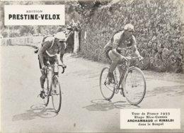 Photo Tour De France Cycliste 1933 Etape Nice  Cannes Arcambaud Et Rinaldi Dans Le Sospel - Cycling
