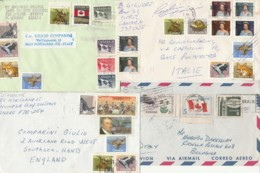 4 LETTERE PLURIAFFRANCATE DA CANADA (VX109 - 1952-.... Regno Di Elizabeth II