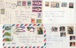 4 LETTERE PLURIAFFRANCATE DA CANADA (VX110 - 1952-.... Regno Di Elizabeth II