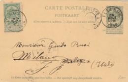 INTERO POSTALE 1896 BELGIO FLEURUS (VX194 - Interi Postali