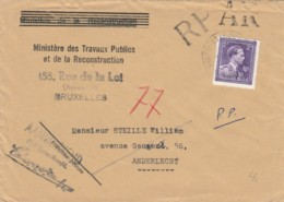 LETTERA 1952 BELGIO TIMBRO BRUXELLES (VX198 - Belgio