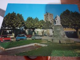 VECCHIANO PAESE PISA PIAZZA E MONUMENTO A GARIBALDI AUTO CAR MINI MONOR PRINZ  N1975 HF730 - Pisa