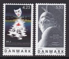 PAIRE NEUVE DU DANEMARK - EUROPA 2003  L'ART DE L'AFFICHE N° Y&T 1344/1345 - Europa-CEPT