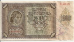 CROATIE 1000 KUNA 1941 UNC P 4 - Kroatië