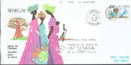 Lettre Du Sénégal Vers La Belgique (14/8/1995) Avec Timbre Conférence Du Rotary + Photos Touristiques Au Dos - Senegal (1960-...)