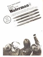"PUB STYLO Et STYLO PLUMES "" WATERMAN  ""  1963 ( 25 ) - Pens"